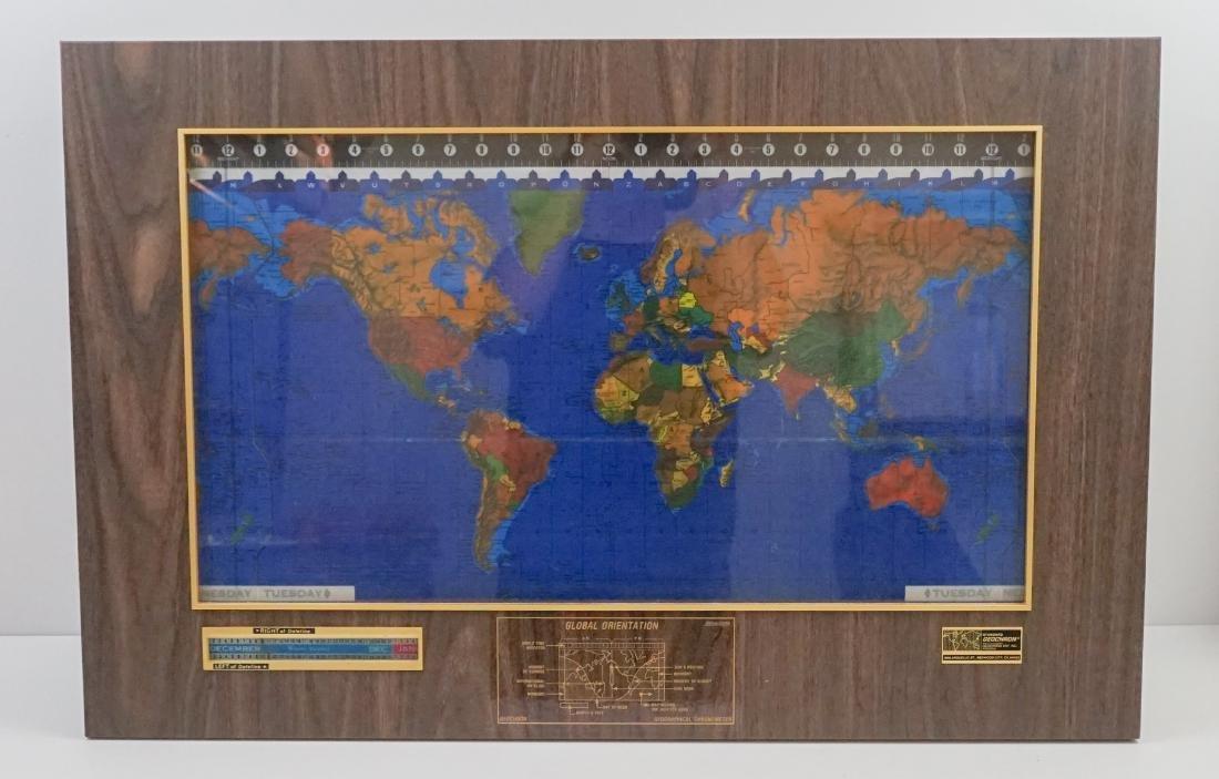 Mid-Century Kilburg Geochron World Wall Clock
