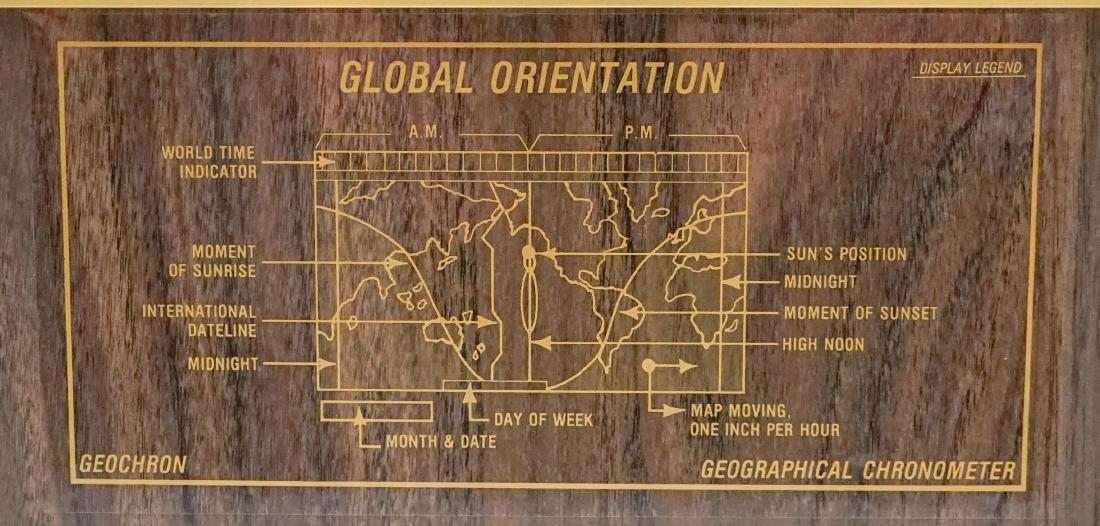 Mid-Century Kilburg Geochron World Wall Clock - 2