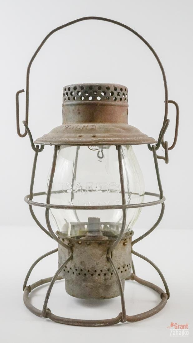 Great Northern Railway Lantern, Marked Globe
