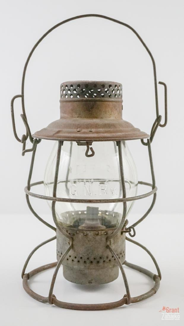 Great Northern Railway Lantern, Marked Globe - 3