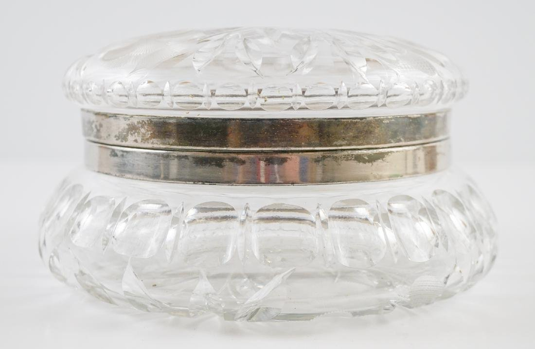 Large Cut Glass Hinged Dresser Box - 2