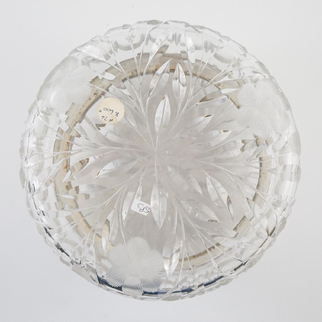 Large Cut Glass Hinged Dresser Box - 8