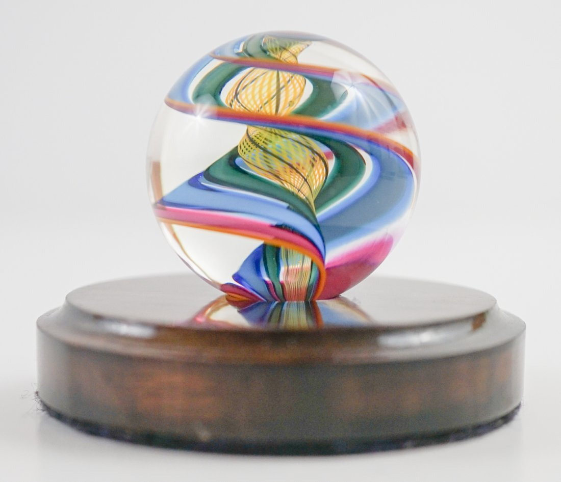 Two Large Handmade Glass Marbles - 2
