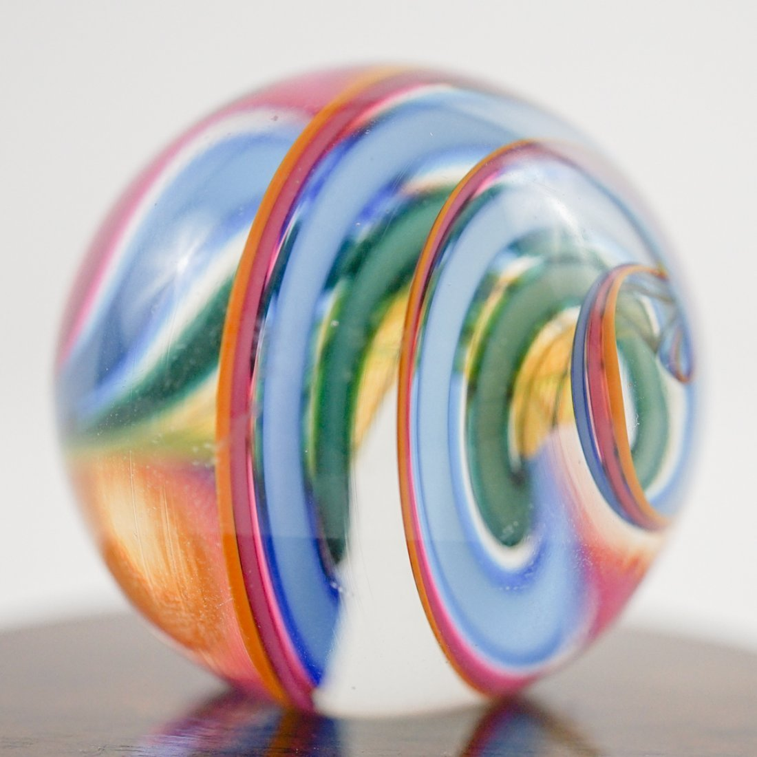 Two Large Handmade Glass Marbles - 4