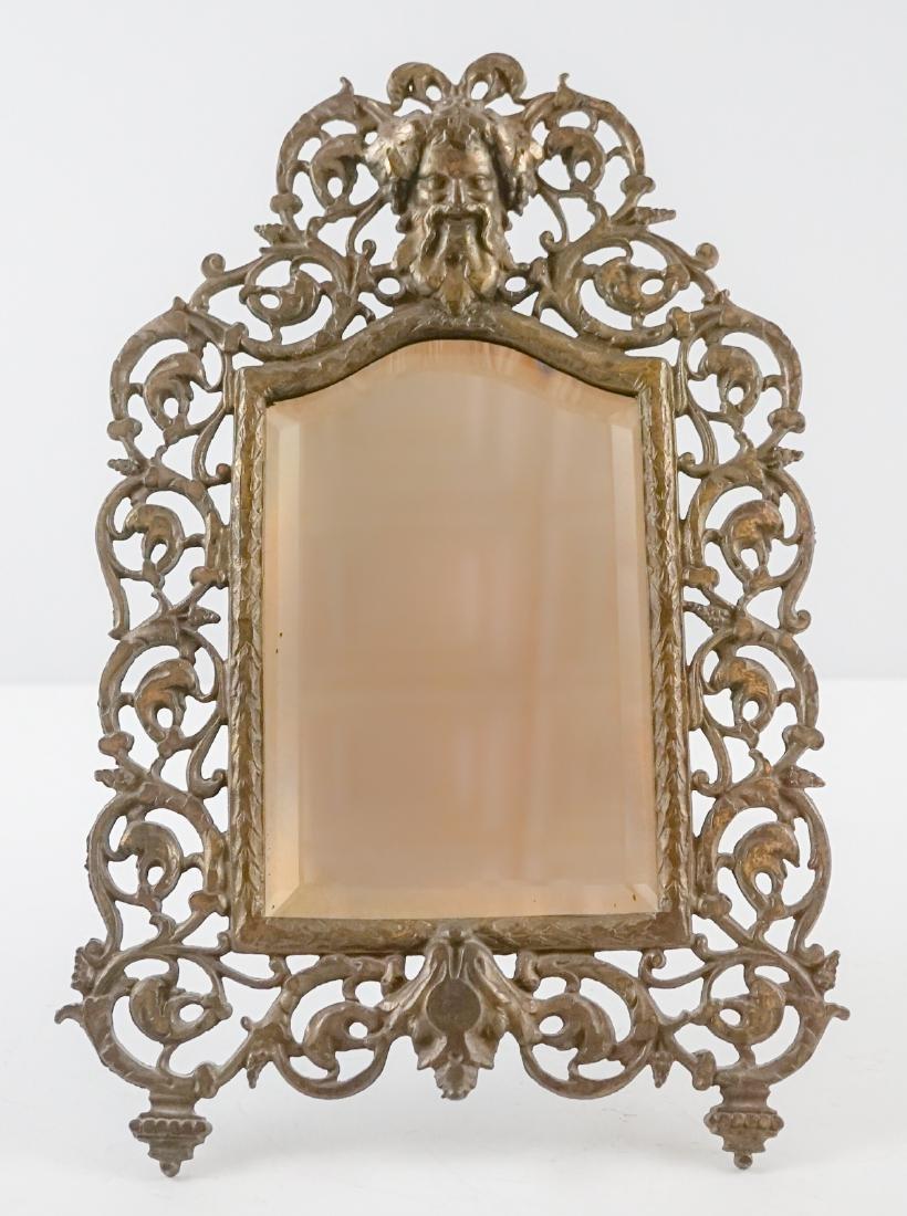 An Antique Easel-Back Mirror