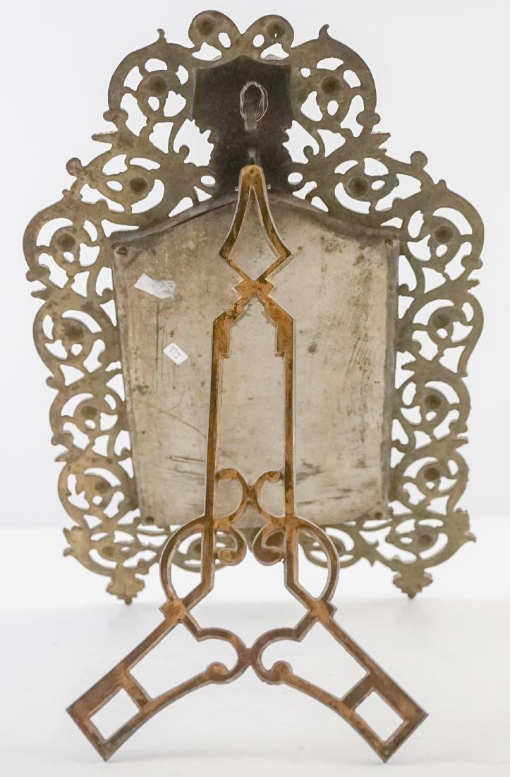 An Antique Easel-Back Mirror - 4