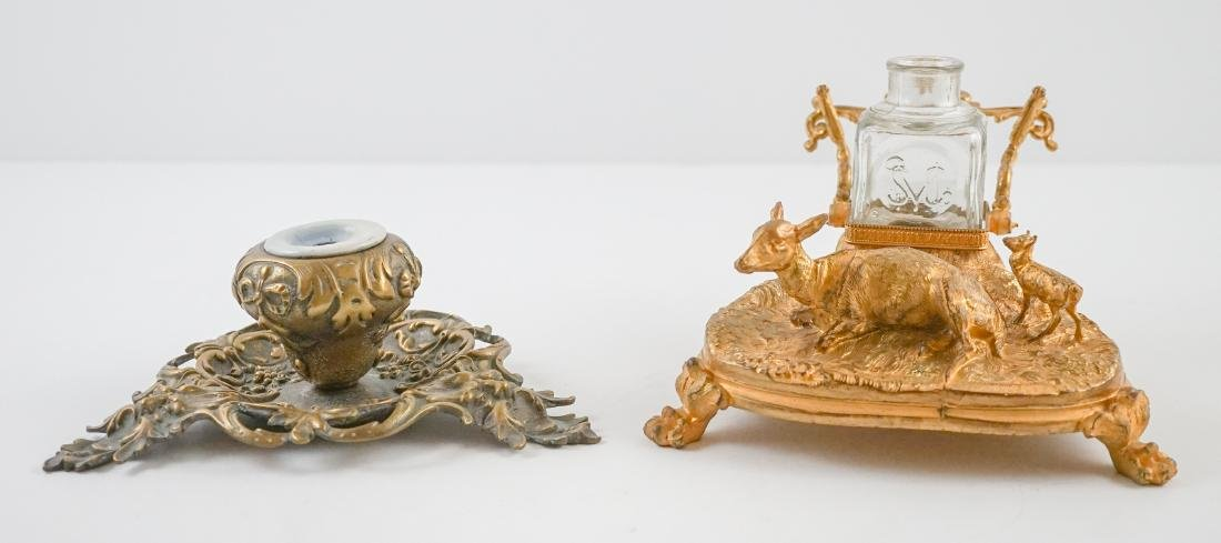 Two Antique Inkwells