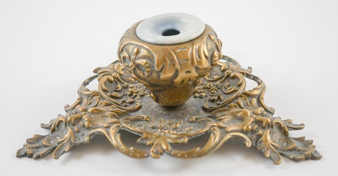 Two Antique Inkwells - 6
