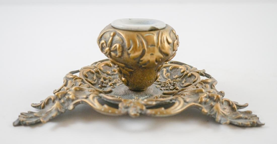 Two Antique Inkwells - 7