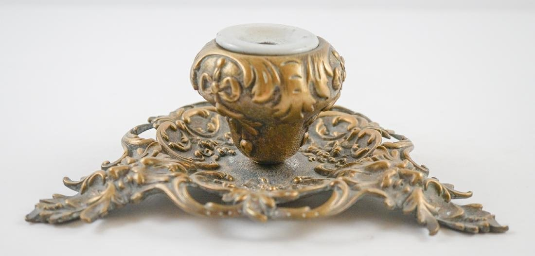 Two Antique Inkwells - 8