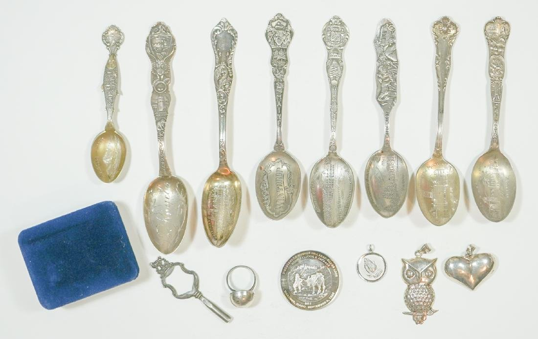 Sterling Silver Spoons, Jewelry and Charms