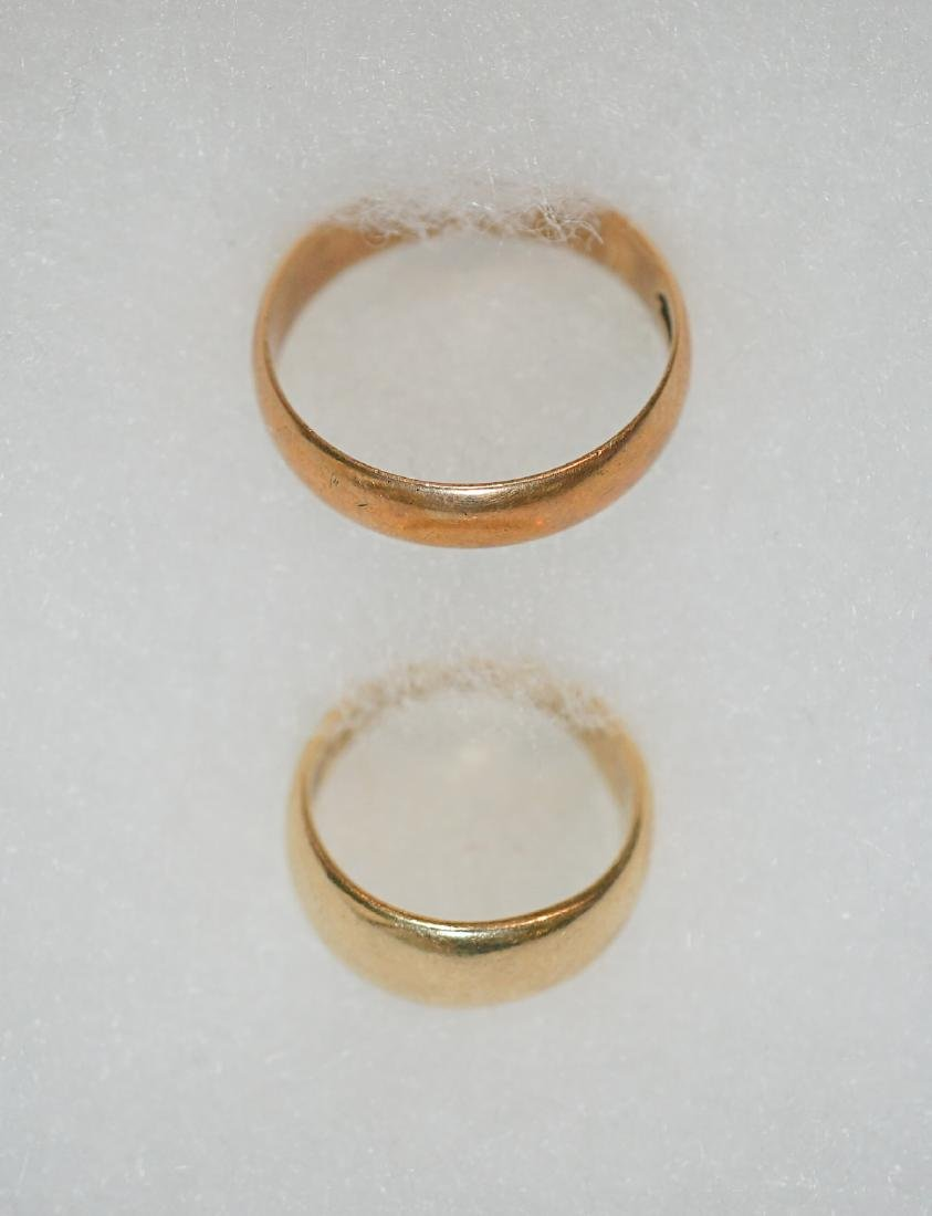 Two 14k Gold Bands Weighing 9.0 Grams