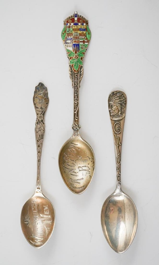 Group of Sterling Souvenir Spoons, 10.85 ozt - 5