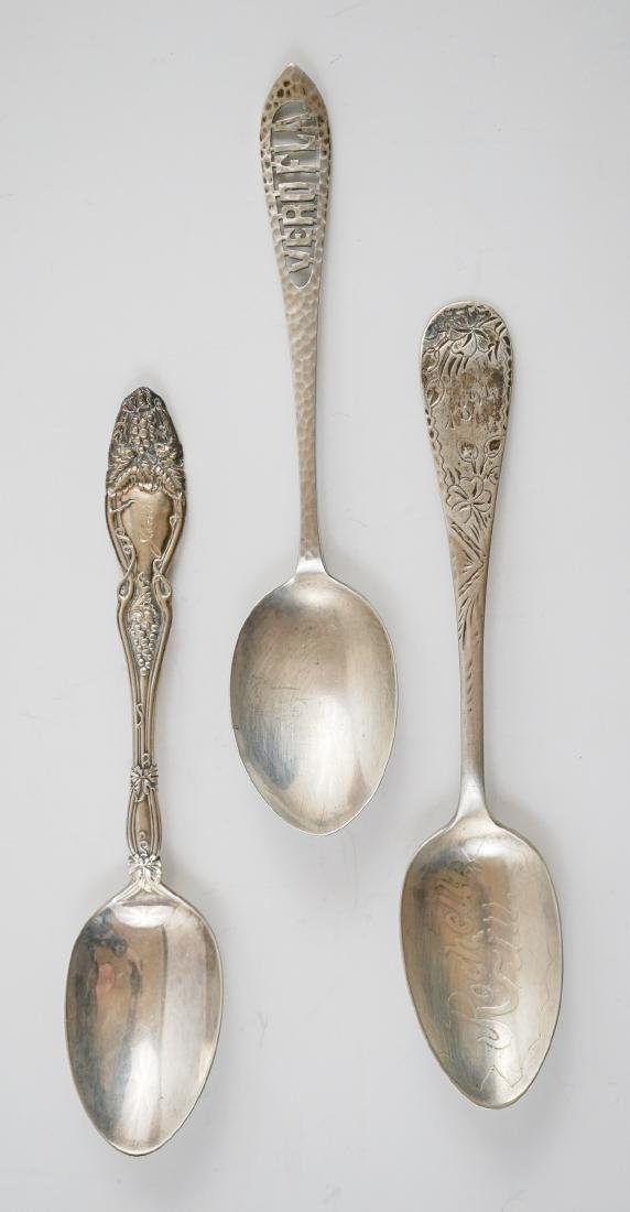 Group of Sterling Souvenir Spoons, 10.85 ozt - 9
