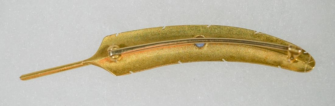 WAB Wordley, Allsop and Bliss 14k Feather Pin - 2