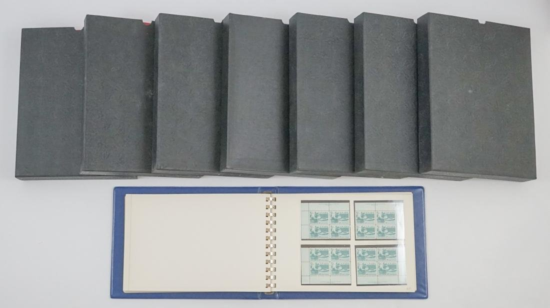 Collection Eight Albums of Canada Plate Blocks