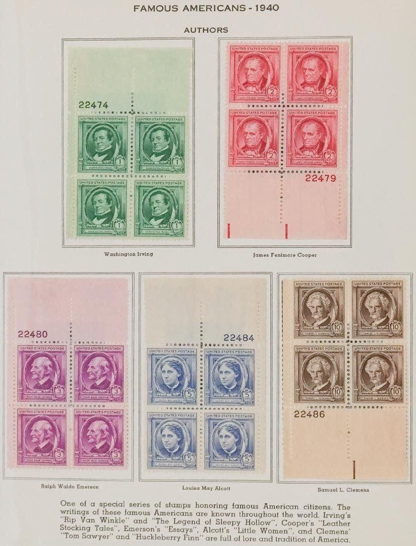 American Plate Block Collection 1938-1950 (248) - 10