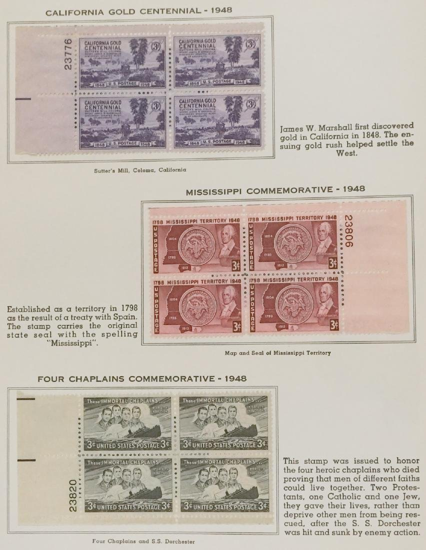 American Plate Block Collection 1938-1950 (248) - 4
