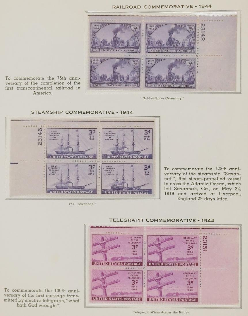 American Plate Block Collection 1938-1950 (248) - 6