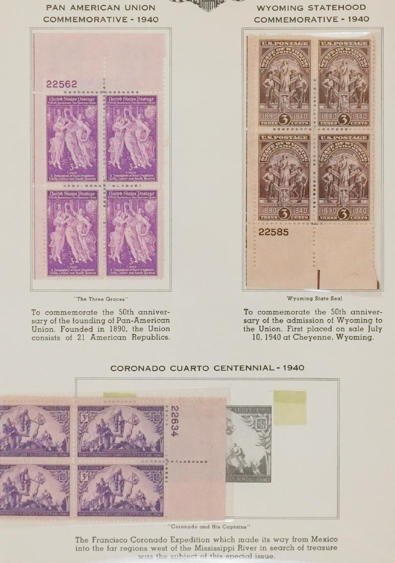 American Plate Block Collection 1938-1950 (248) - 9
