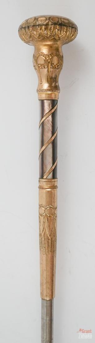 Antique Gold Plated Umbrella Part