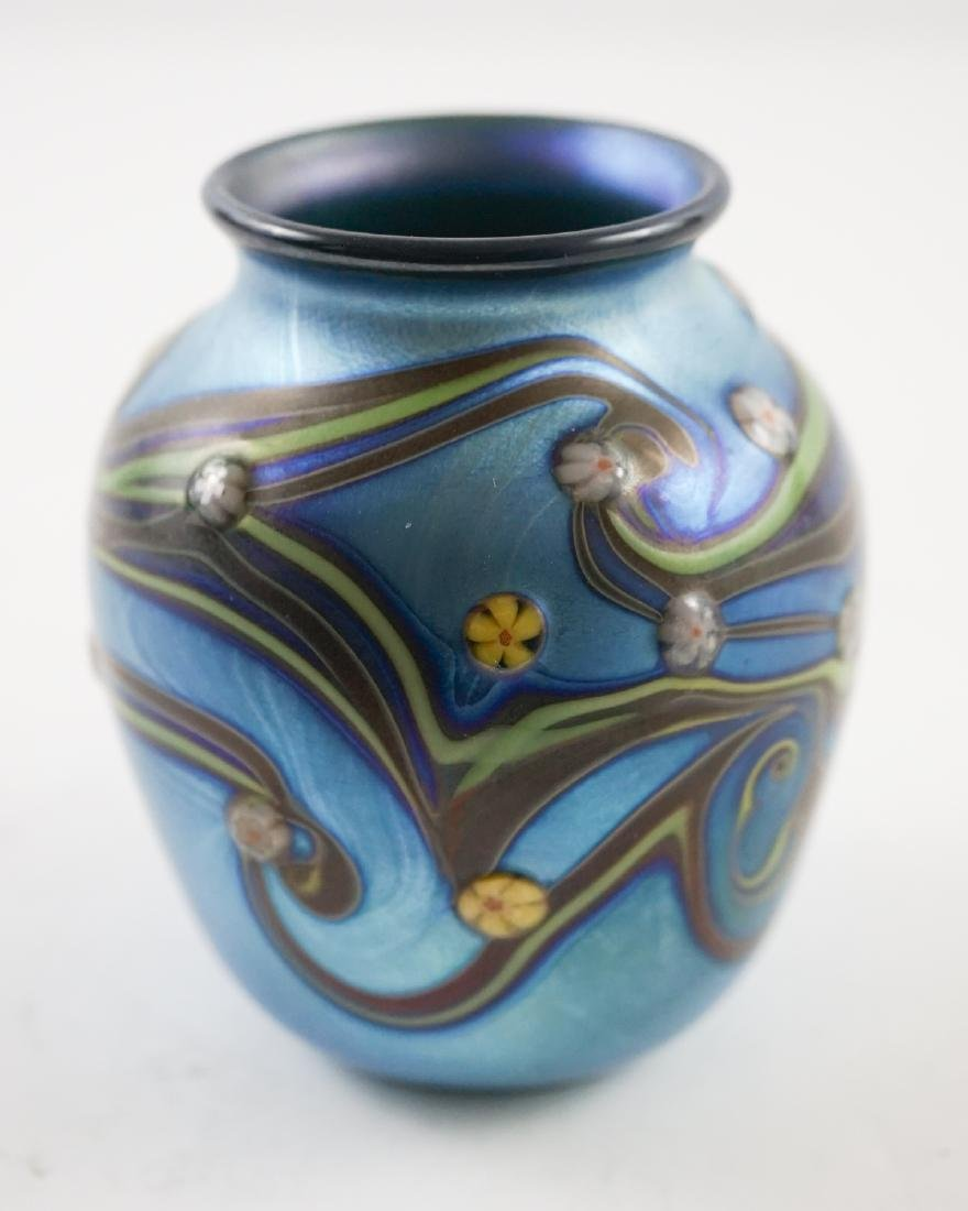 Orient and Flume Small Art Glass Vase, 1978