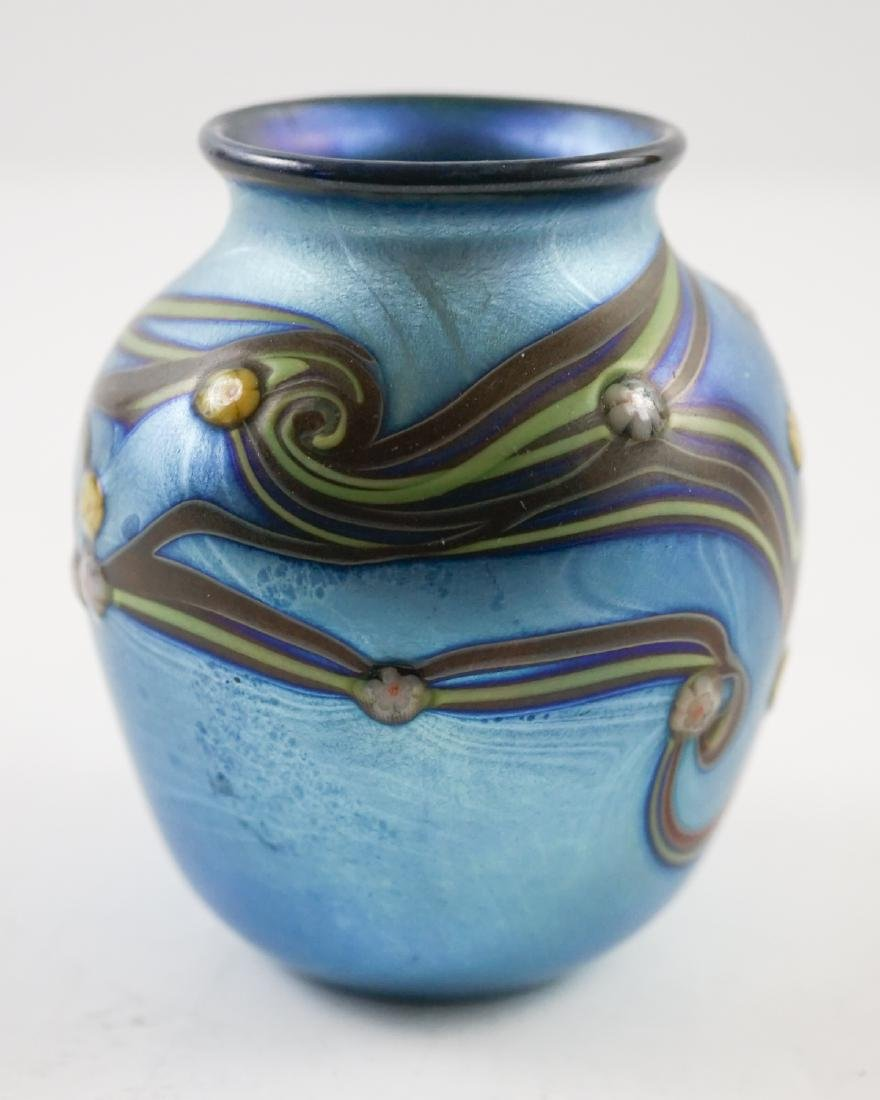 Orient and Flume Small Art Glass Vase, 1978 - 2