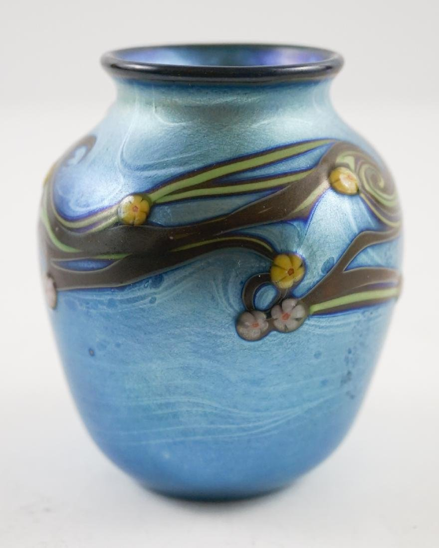 Orient and Flume Small Art Glass Vase, 1978 - 3