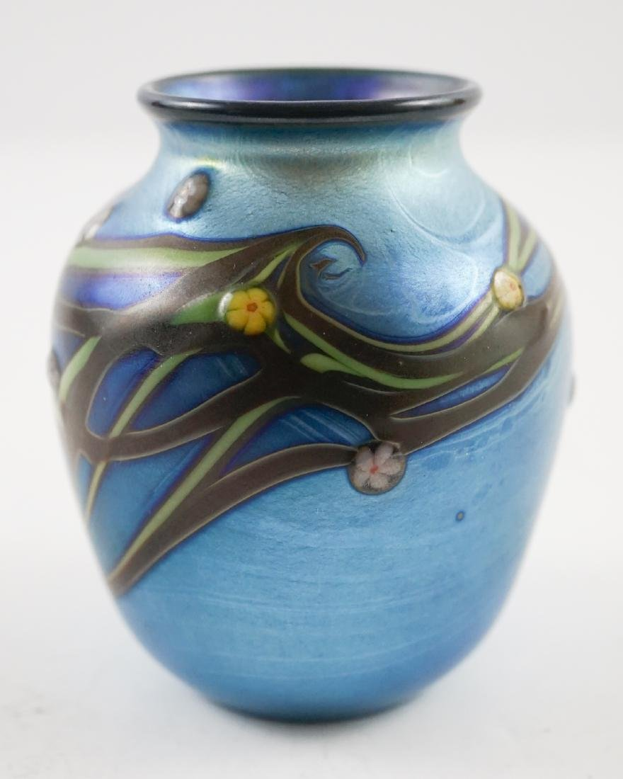 Orient and Flume Small Art Glass Vase, 1978 - 4