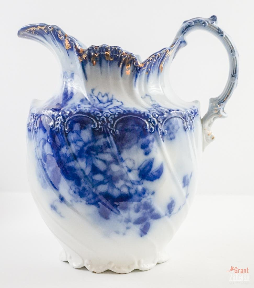 Sandringham Flow Blue Pitcher and Bowl - 2