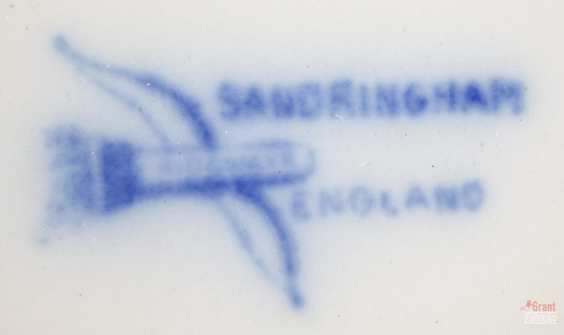 Sandringham Flow Blue Pitcher and Bowl - 5