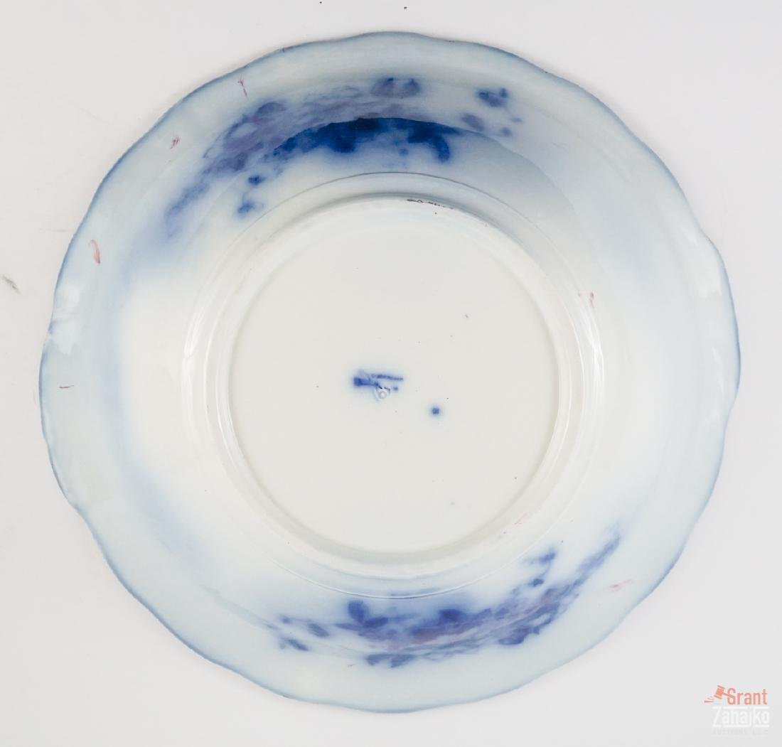 Sandringham Flow Blue Pitcher and Bowl - 9