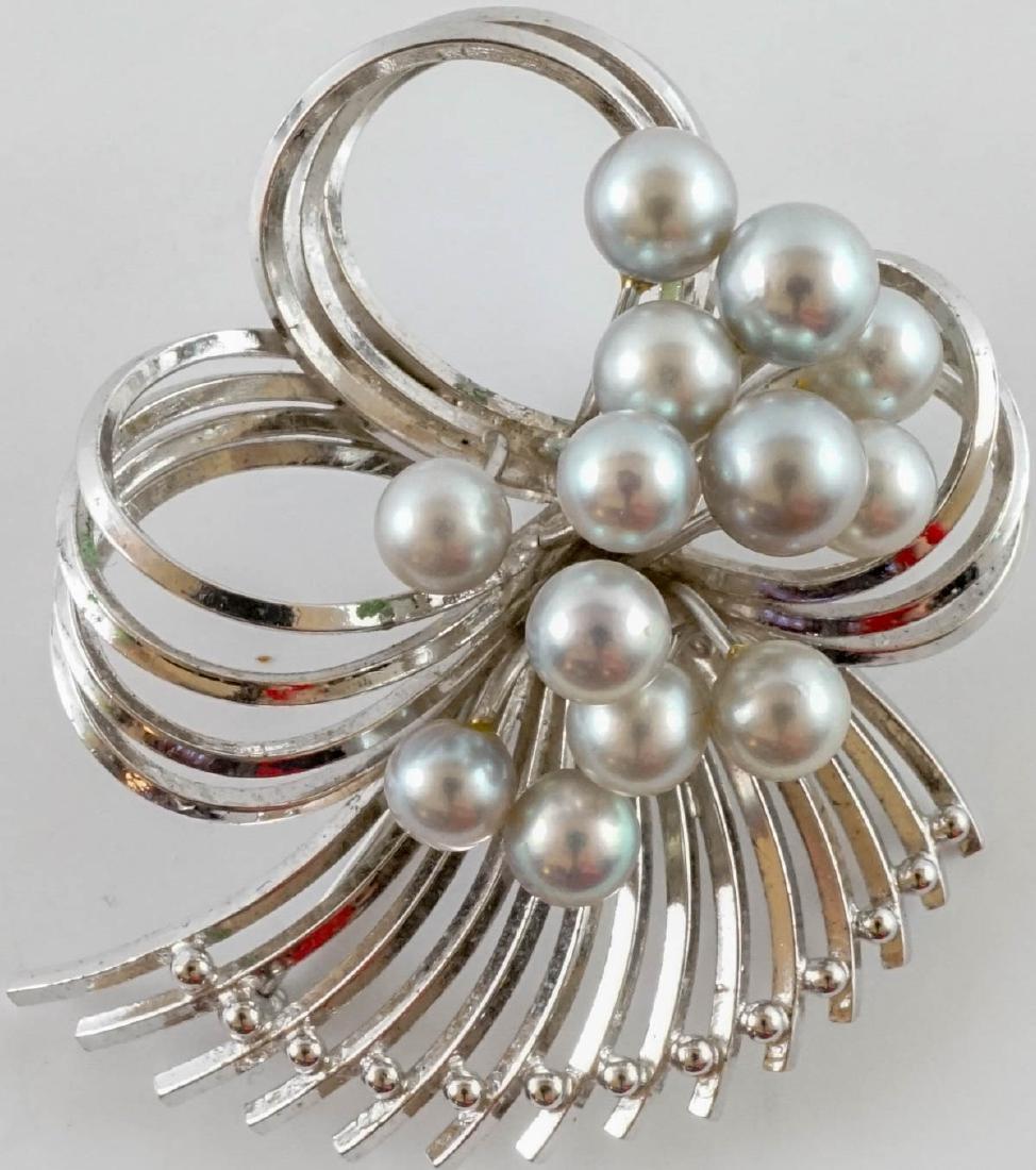Vintage Ladies Sterling Jewelry with Pearls - 3