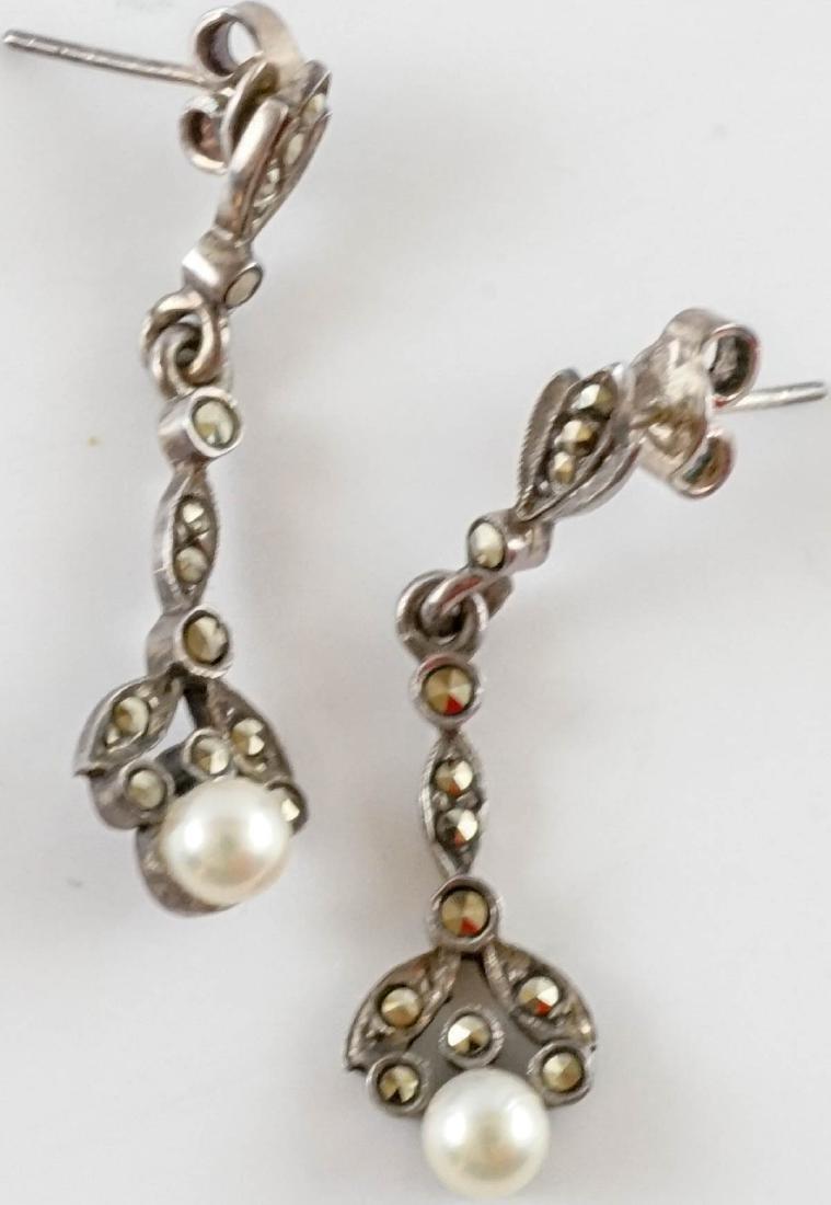 Vintage Ladies Sterling Jewelry with Pearls - 4