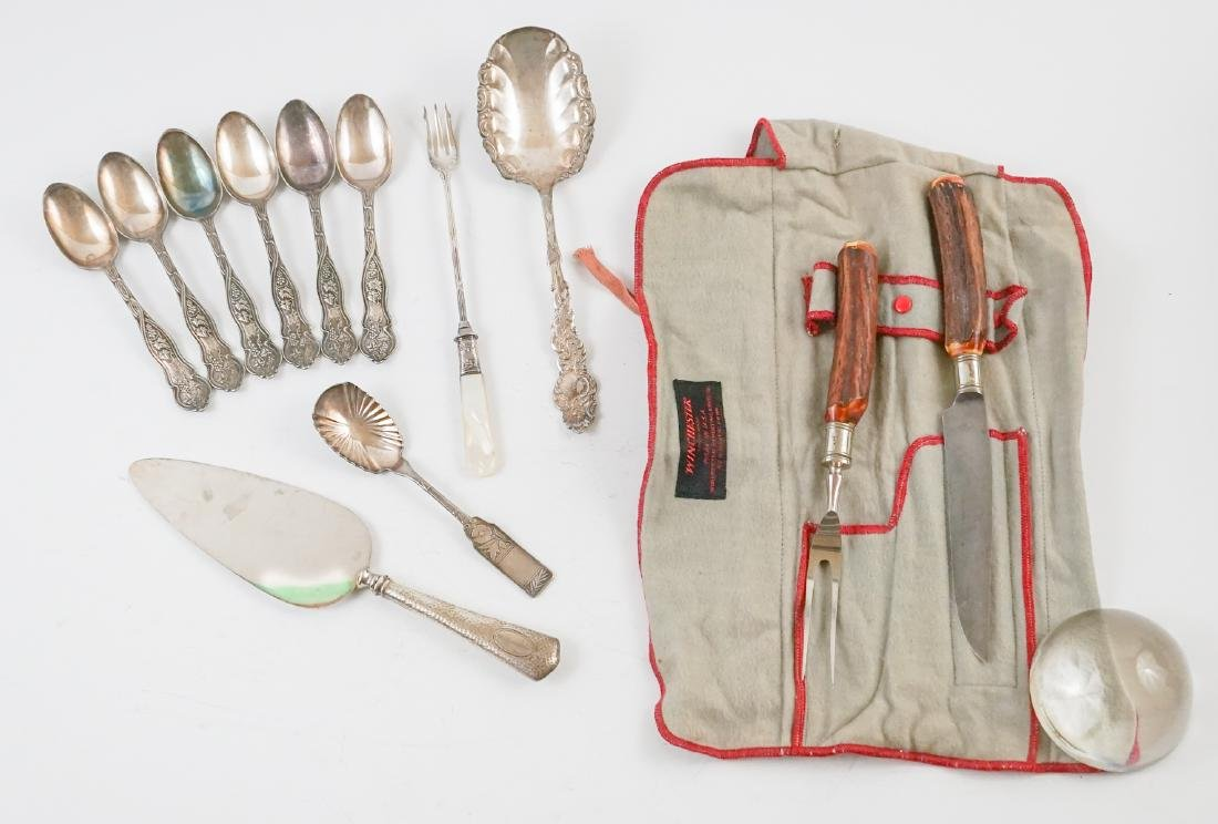 Ornate Silver Plate, Winchester Carving Set