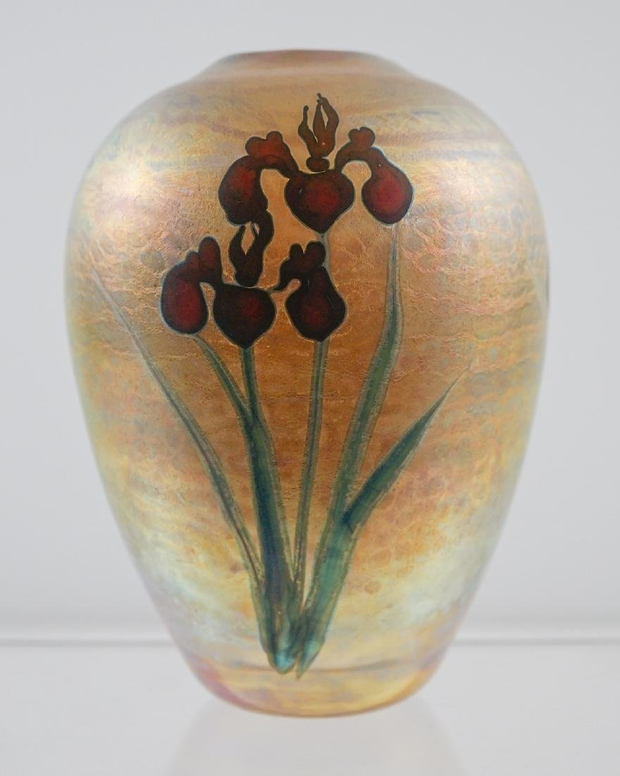Chris Heilman and Joyce Roessler Art Glass Vase