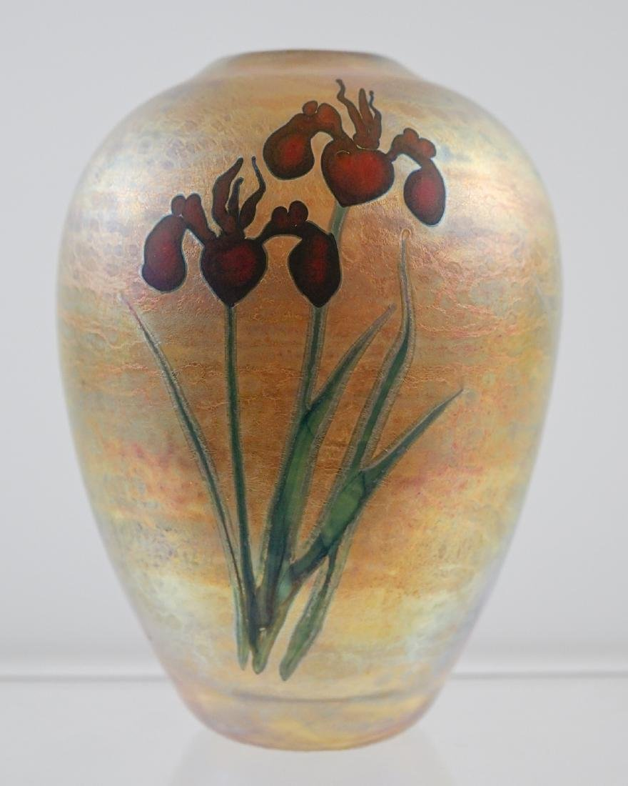 Chris Heilman and Joyce Roessler Art Glass Vase - 2