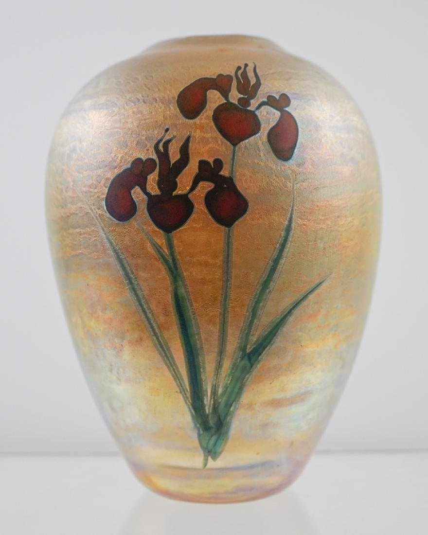 Chris Heilman and Joyce Roessler Art Glass Vase - 3