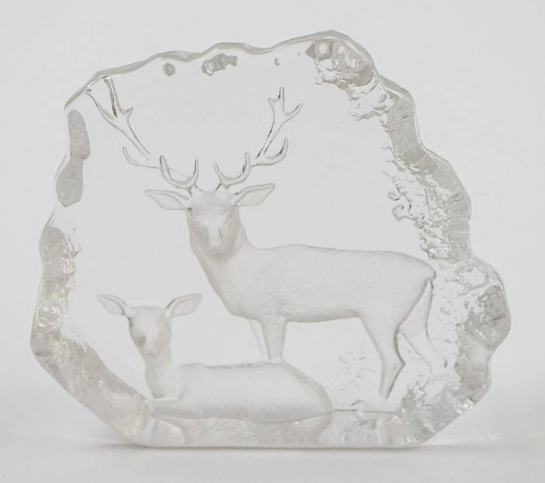 [2] Pieces Mats Jonasson Crystal Sculpture - 4
