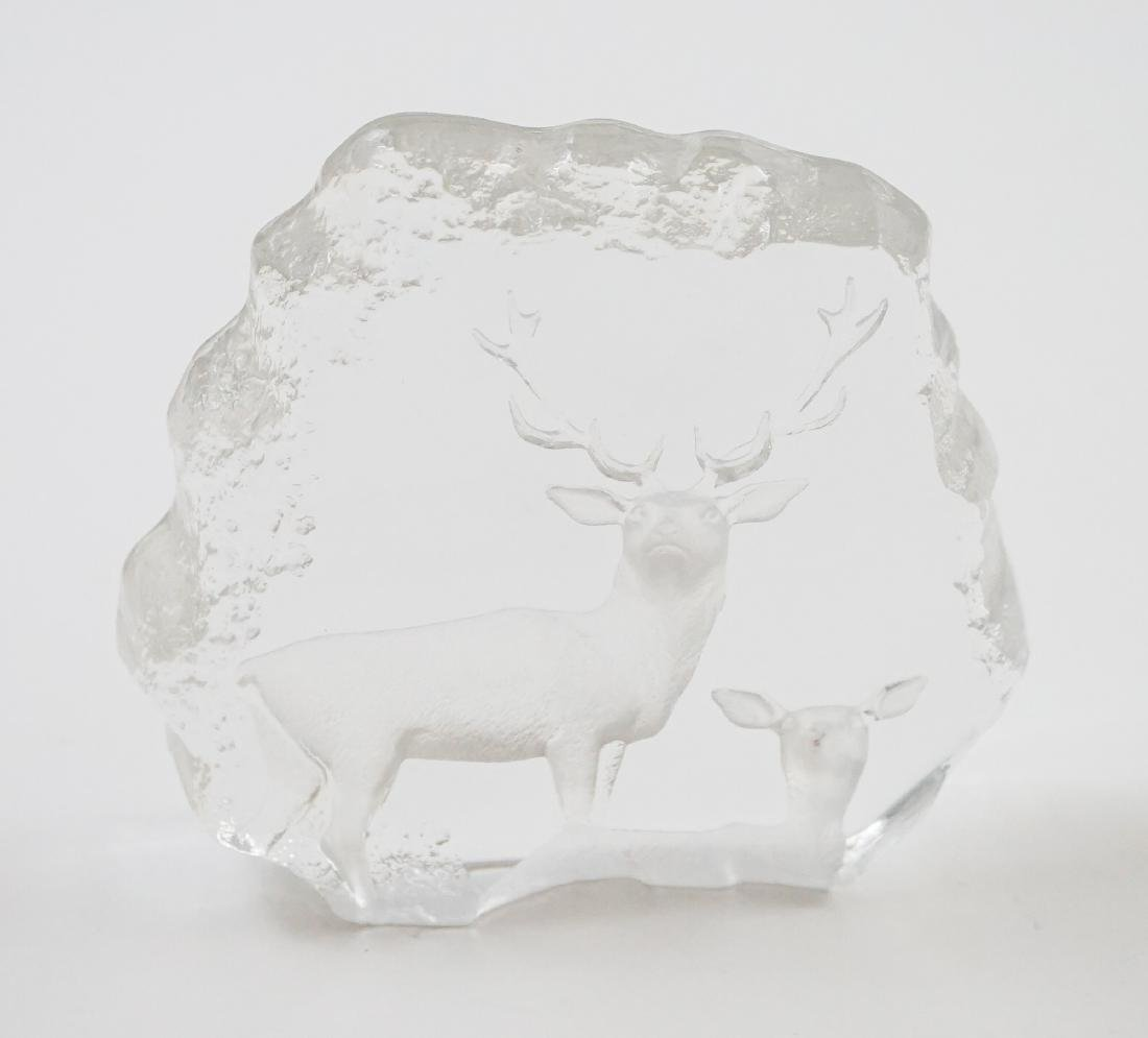 [2] Pieces Mats Jonasson Crystal Sculpture - 5