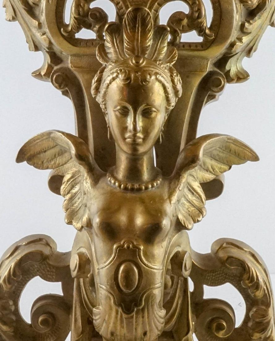 Exceptional Pair of Gilt Firedogs - 4