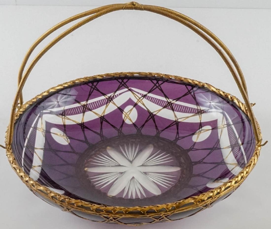 Fine Bohemian Cut Basket