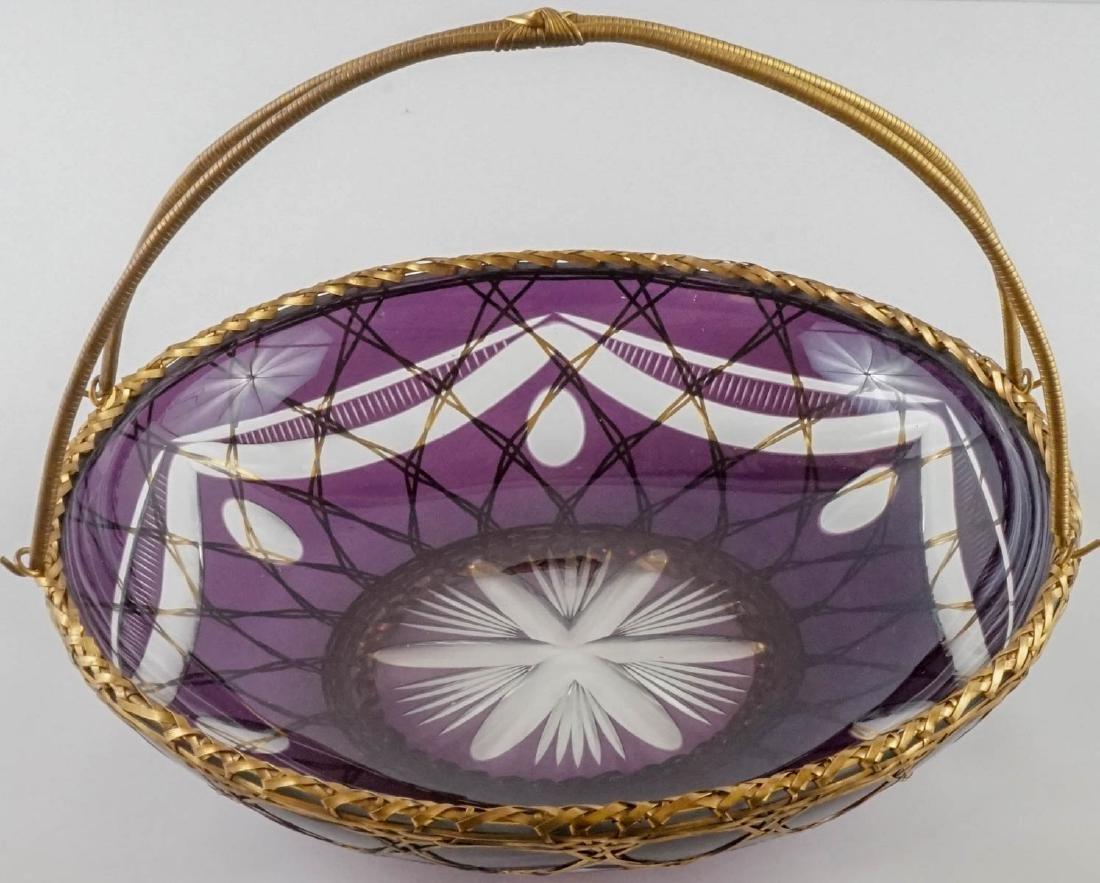 Fine Bohemian Cut Basket - 2