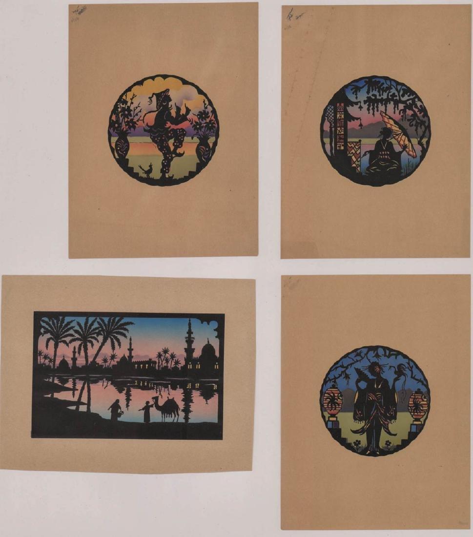 Four Antique Cut-Paper Silhouettes