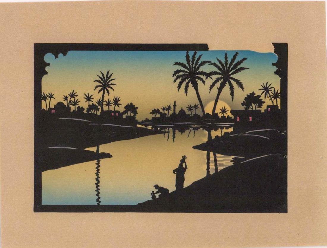 Six Antique Cut-Paper Silhouettes - 2