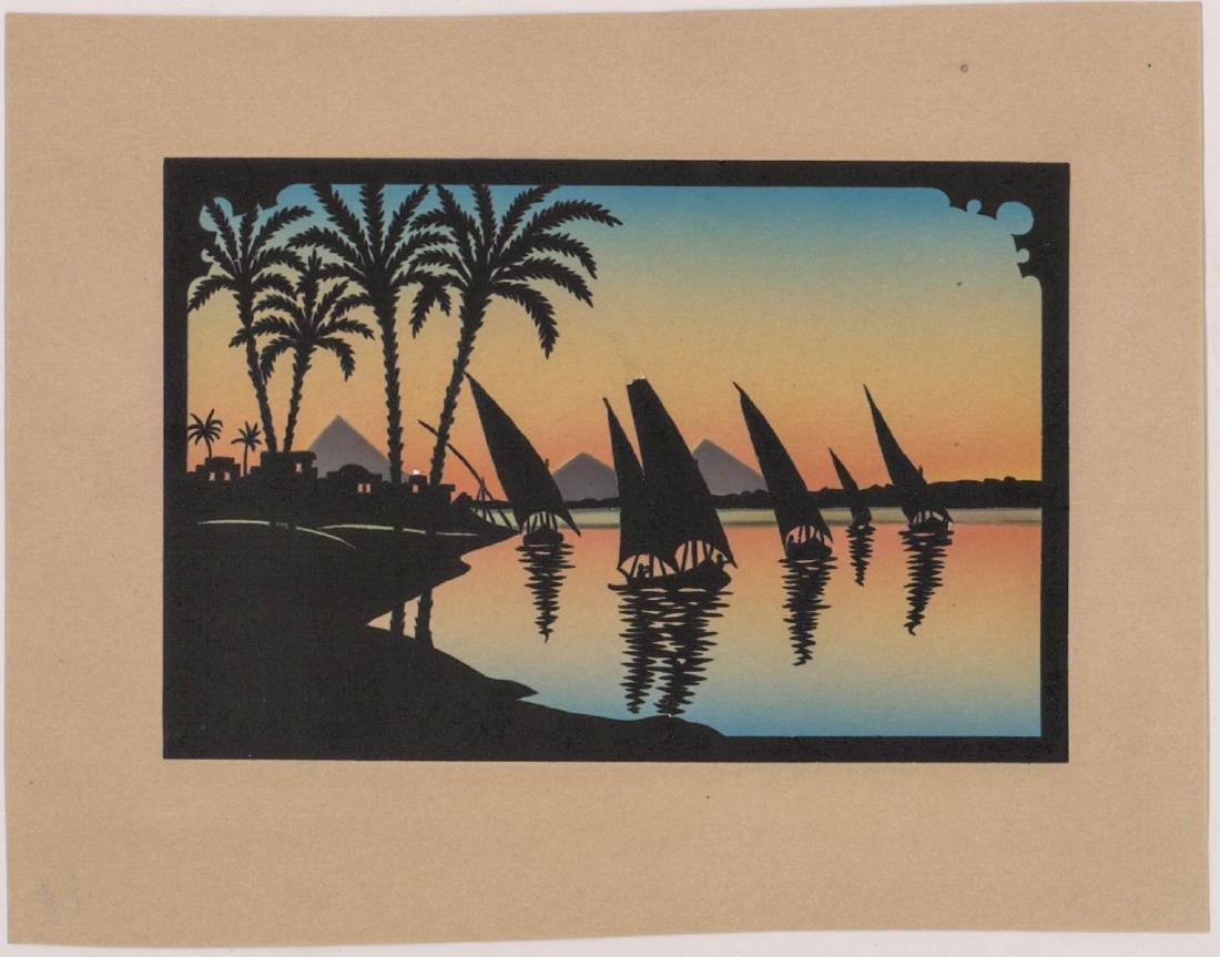Six Antique Cut-Paper Silhouettes - 3