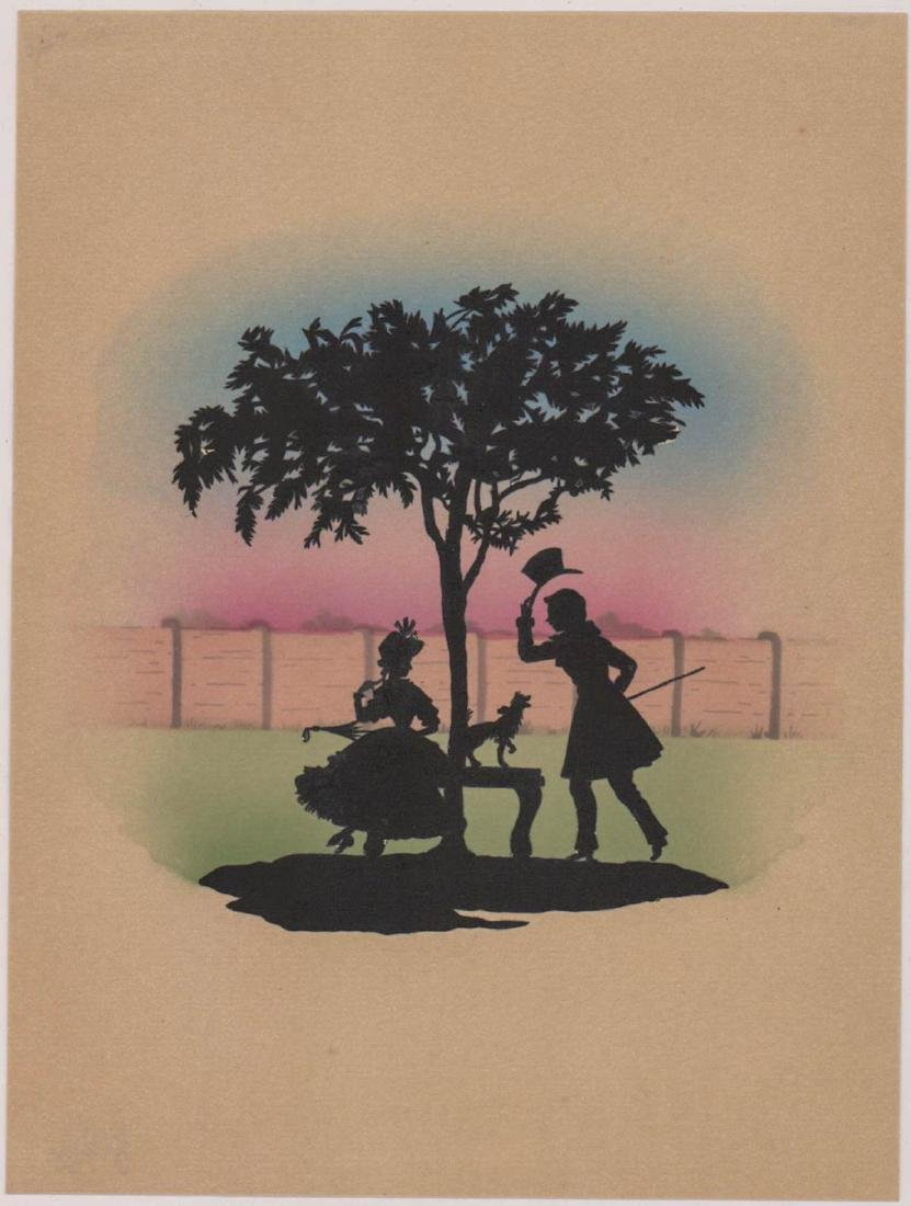 Six Antique Cut-Paper Silhouettes - 5