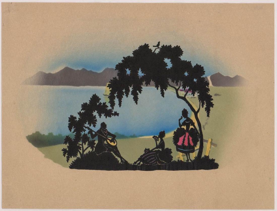 Six Antique Cut-Paper Silhouettes - 6