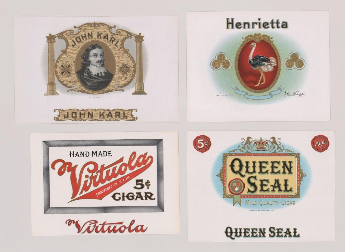 Group of Twenty-Four Cigar Box Labels