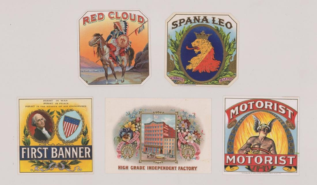 Group of Seventeen Cigar Box Labels - 3